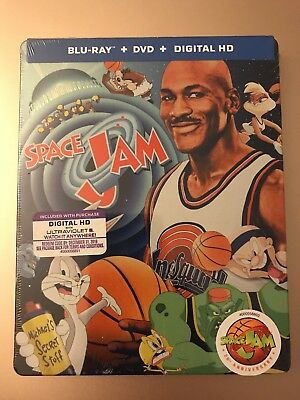 Space Jam (Blu-ray + DVD + digital copy, 20th Anniversary Edition SteelBook) New