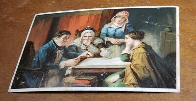 """Antique pre 1900's Adv Trade Card -Dr Jaynes """"Words of Comfort"""" William Caldwell"""