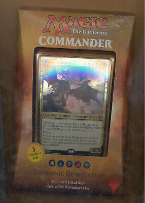 Magic The Gathering Commander Deck Dragonic Domination Sealed New The Ur-Dragon