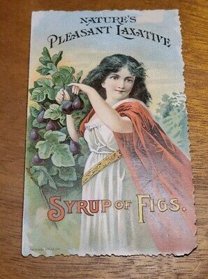 Antique pre 1900's Adv Trade Card - Syrup of Figs Laxative Juice California