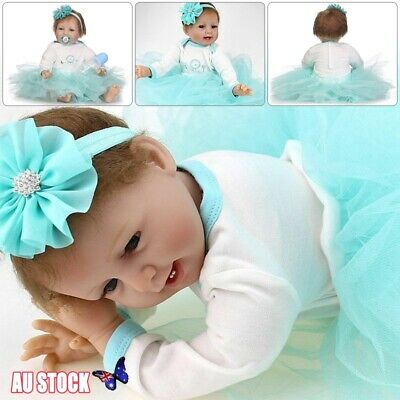 "22"" Lifelike Vinyl Silicone Reborn Doll Baby Girl Doll Toy Girls Christmas Gift"