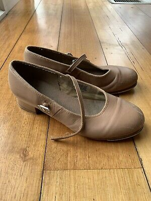 Bloch Tan Leather Tap Dance Shoes - Size 6