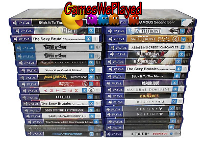 Playstation 4 Games PS4  Large Dropdown Selection M Titles