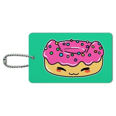 Cute Kawaii Cat Donut Luggage Card Suitcase Carry-On ID Tag