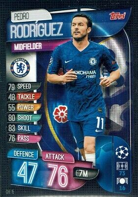 Topps Match Attax Champions League 19/20 Card No. Che 15 Pedro Rodriguez FC