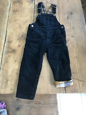 Boys Navy Cord Dungarees and Next trousers Age 3-4 Years