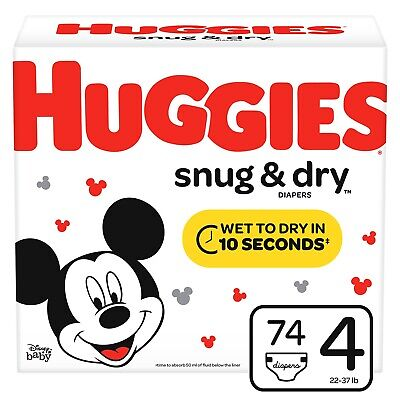 Huggies Snug & Dry Diapers, Size 4, 74 Count