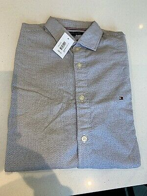 """RRP £60 15/""""//40/"""" Chest Tommy Hilfiger Mens Smart Casual Long Sleeved Shirt"""
