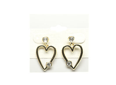 5pcs Small gold plated /& shiny red enamel heart charms drops pendants 8x7.5mm