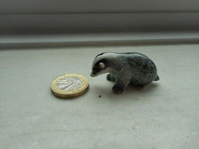 Badger- Pottery -  Beautiful Detailed Badger Miniature Collectable Figurine