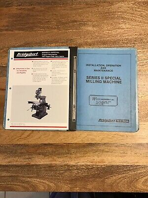 Original Bridgeport Series Ii Special Milling Machine Operation Manual
