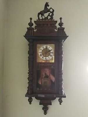 Antique German Wall Clock with Horse - Good condition