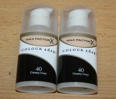 Max Factor Colour Adapt Foundation - 34ml x 2 - Colour choice - New
