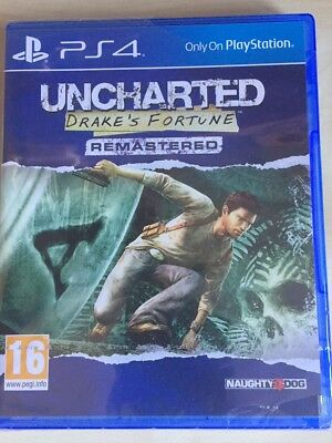 Uncharted - Drake's Fortune - Remastered - PS4 Games - Brand New & Sealed