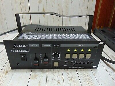 Elation EL-CC4D 4 Channel SPEED Dimmer AUDIO 16 PATTERN PROGRAM