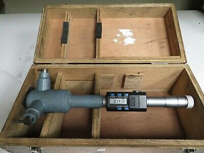 """Mitutoyo 468 5.0 -6.0"""" .0001"""" HTD Digimatic Holtest Internal Micrometer NP46"""