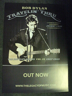Bob Dylan Promo Poster Travelin' Thru Dutch Holland Promotional 2019 Johnny Cash