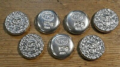 Yeager/'s Poured Silver Jeep Grill Fine Silver Round Hand Pour 100 gram 999