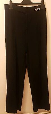 Youth Mens Boys Ladies Ballroom Latin Competition Practice Trousers Navy Blue