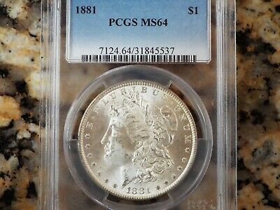 1881-P Morgan Silver Dollar, PCGS MS-64!