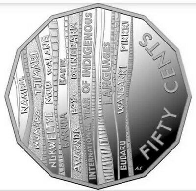 2019 50c Cent Uncirculated Coin International Year of Indigenous Languages