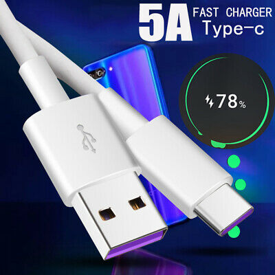5A Fast Charging Cable Type C USB-C Date Sync Charger For Huawei   Super Charge