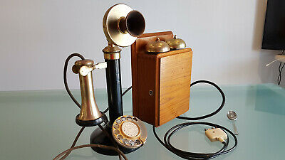 Antique Candle Stick Telephone, With B Ell Box. Working Order Take A Look !