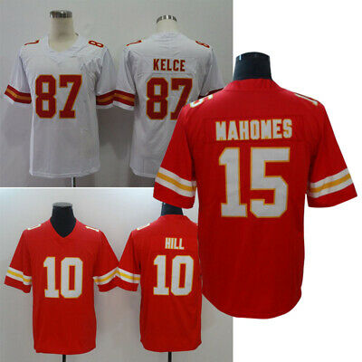 Patrick Mahomes #15 Jersey KELCE #87 Men's Stitched HUNT SMITH HILL #10 T-shirt