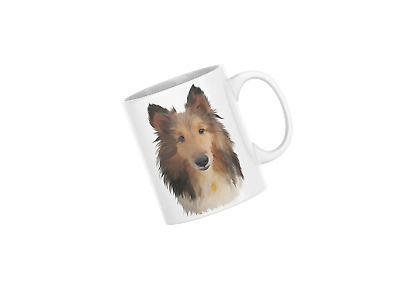 AD-RC1-CPW Rough Collie Dog Soft Velvet Feel Cushion Cover With Inner Pillow