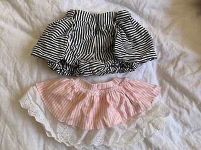 Sooki baby bulk mixed items striped pink white skirt black white shorts 000 & 0