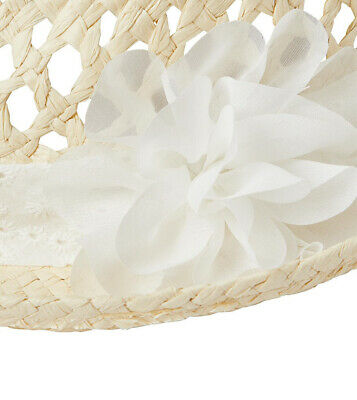 John Lewis & Partners Children's Straw Trilby Hat with Flower  - Girls S - M