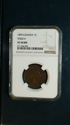 1894 Canada LARGE CENT NGC XF40 BN 1C Coin PRICED TO SELL NOW!