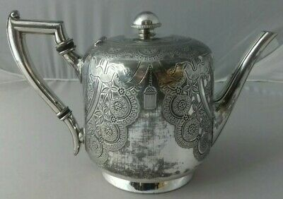 Lovely Antique Victorian Edwardian Atkins Brothers Sheffield Silver Plate Teapot