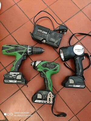 Hitachi Impact Driver, Combi Drill and torche.  18v LiIon