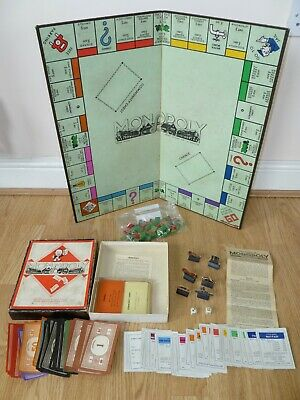 MONOPOLY Vintage Board Game Waddingtons Boxed Complete 1940s WW2 Austerity RARE
