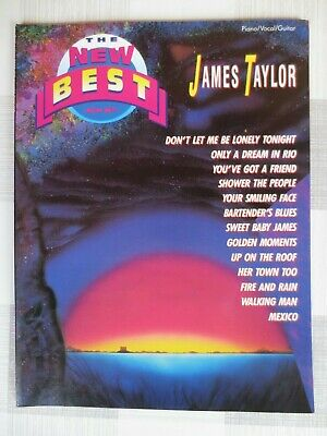 Warner Bros The New Best James Taylor Piano Vocal Guitar sheet music book 13