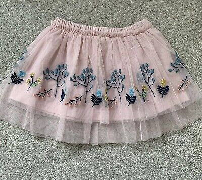 M&S Baby Girls Pink Embroidered Tutu Skirt Age 12-18 Months