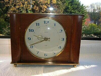 Vintage Smiths Sectric Art Deco 8 Day Mechanical Clock,Floating Balance ~ Odette
