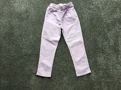 Next Girls Chinos Age 3-4 Years In Lilac - Washed But Never Worn !!