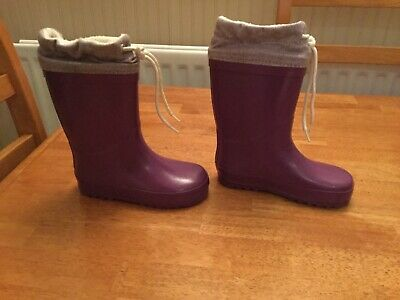 Marks and spencer purple girls welly boots size 11 great condition