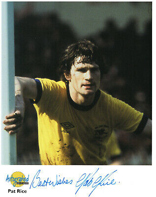 Pat Rice Arsenal Signed Photo Westminster Collection Autographed Edition
