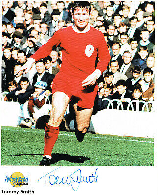 Tommy Smith Liverpool Signed Photo Westminster Autographed Edition