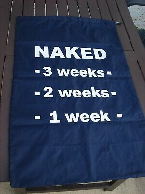 Laundry bag - navy drawstring - countdown weeks to naked - great for uni student