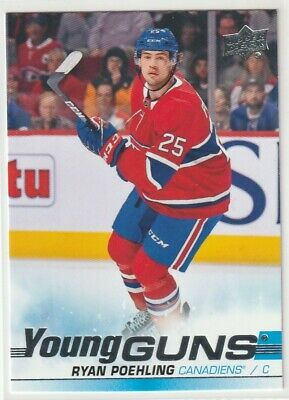 19/20 Upper Deck Series 1 - RYAN POEHLING #226 Rc Young Guns Rookie Canadiens