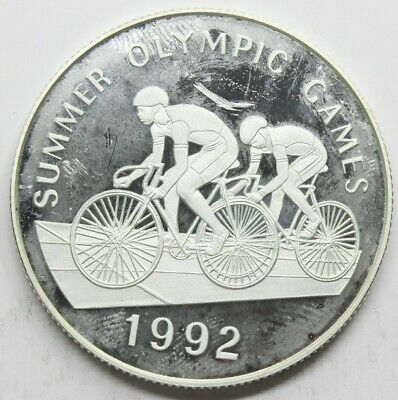 Jamaica 1992 Summer Olympic Games 25 Dollar Moneda Plata Fdc