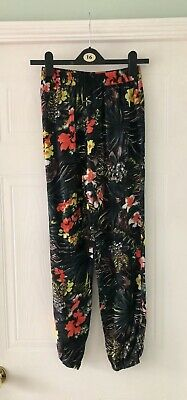 Kylie Girls Floral Trousers Age 13 Years