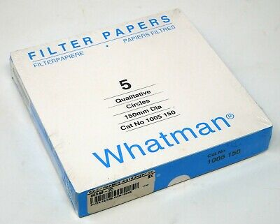 Pack of 100 2.5 /µ Whatman 1005-150 Whatman 1005-150 Qualitative Filter Papers; 15 cm Diameter; Pore Size