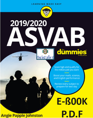 2019-2020 ASVAB For Dummies By Angie Papple Johnston Free International Shipping