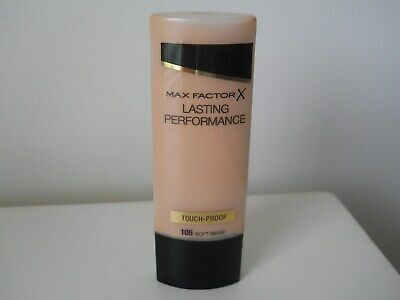 MAX FACTOR LASTING PERFORMANCE FOUNDATION 35ml - Soft Beige 105 - NEW