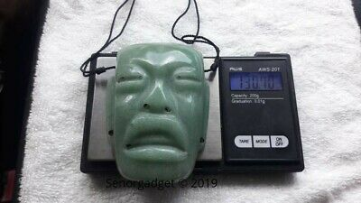 Authentic Mayan Imperial Jade Mask Famous Rock Star Celebrity Stone from Heaven